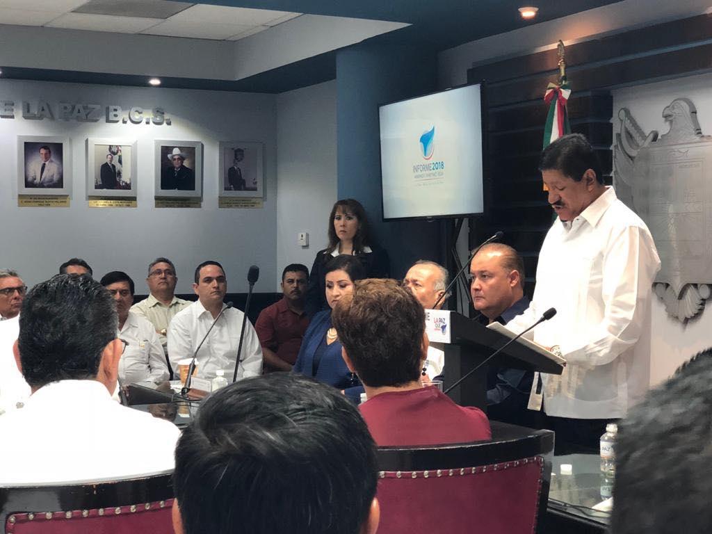 CANACO La Paz presente en el informe del Presidente Municipal de La Paz, Armando Martínez Vega.