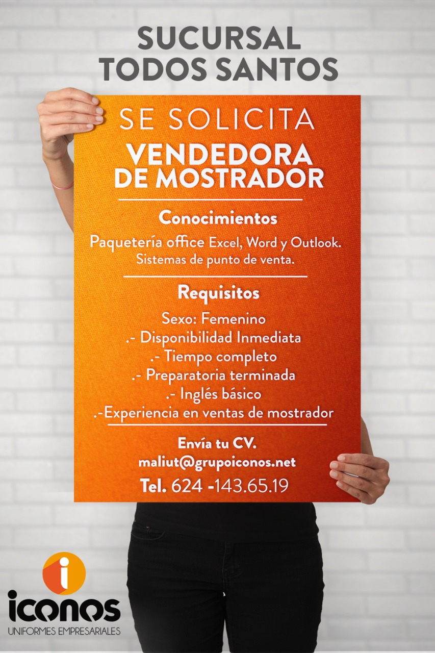 VENDEDORA DE MOSTRADOR